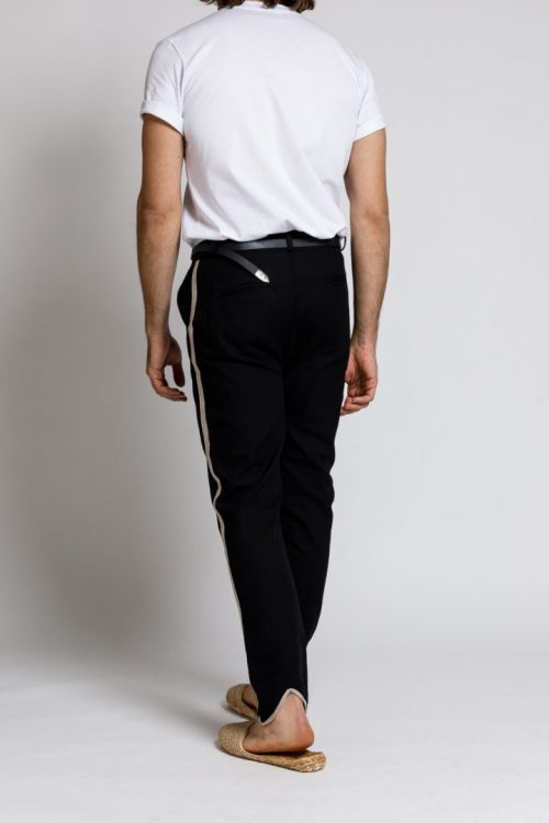 PEGASUS STRIPED PANTS BLACK