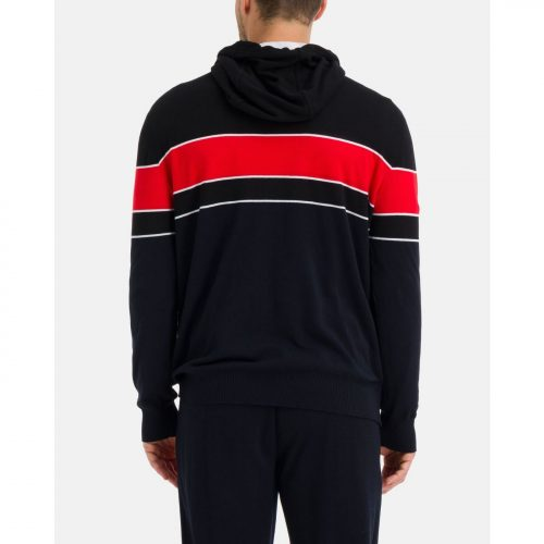 ICEBERG hooded sweater with red stripe and contrast double logos