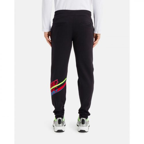 ICEBERG black sweat pants with contrasting graphic logo