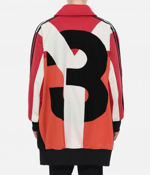 Y-3 OVERSIZED GRAPHIC TRACK TOP