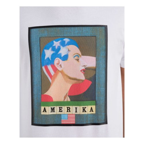"ICEBERG Peter Blake x Iceberg ""Amerika"" white T-shirt"