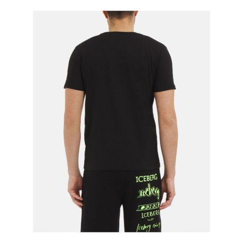 ICEBERG black Iceberg T-shirt with large embroidered logo