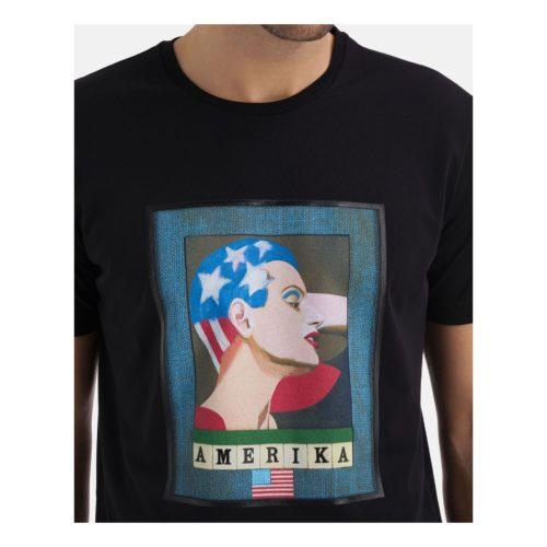 "ICEBERG Peter Blake x Iceberg ""Amerika"" black T-shirt"