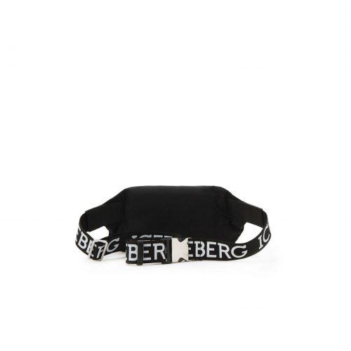 . ICEBERG black belt bag with Iceberg logo