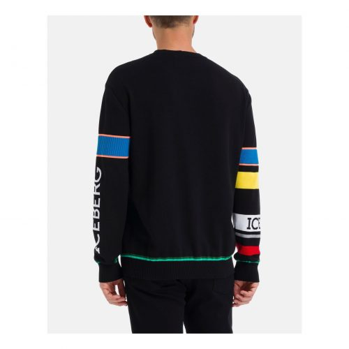 .ICEBERG black Iceberg sweater with multicolor Looney Tunes phrases