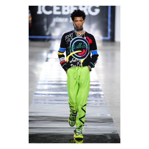 ICEBERG Fluro green track pants