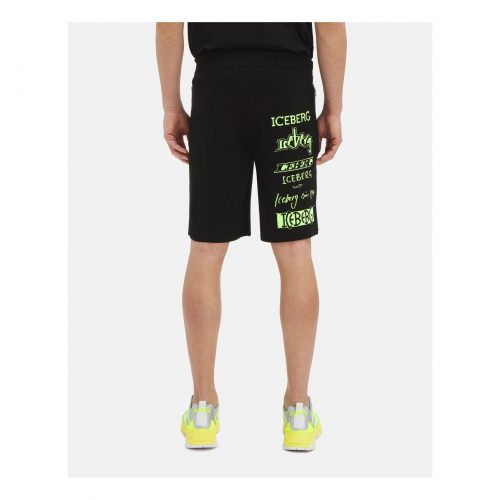 ICEBERG bermuda-style sweatpant shorts with zipper pockets
