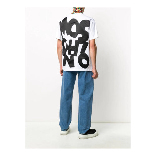 MOSCHINO CUT-OUT LOGO FLEECE JOGGING T-SHIRT