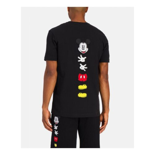 . Black Iceberg T-shirt with deconstructed Mickey Mouse on back