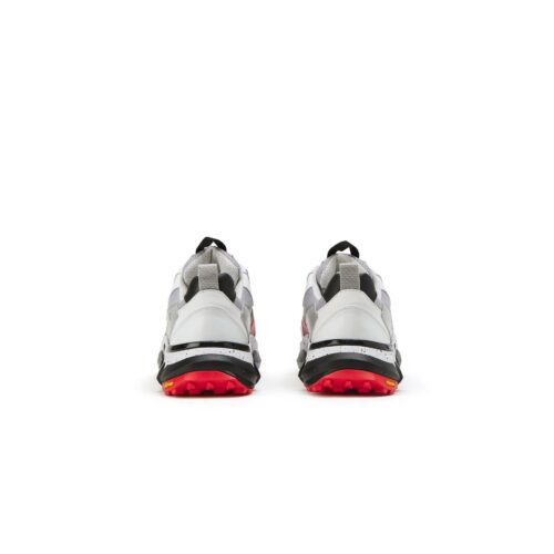 . White and red Iceberg sneakers with gray mesh