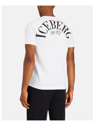 . White Iceberg T-shirt with red and blue Michelangelo design