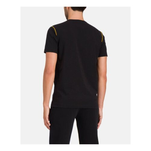 . Black Iceberg T-shirt with yellow piping