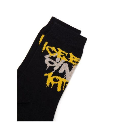 . Black Iceberg socks with graffiti logo