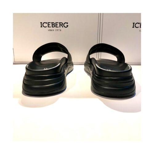 .Sandal Iceberg racing soft leather black