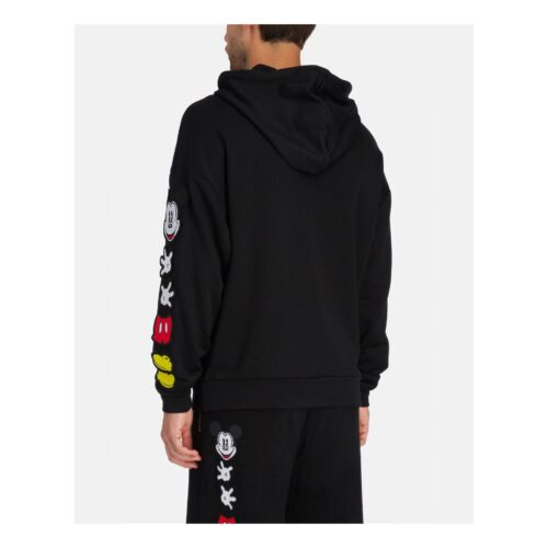 . Black Iceberg hooded sweatshirt with deconstructed Mickey Mouse