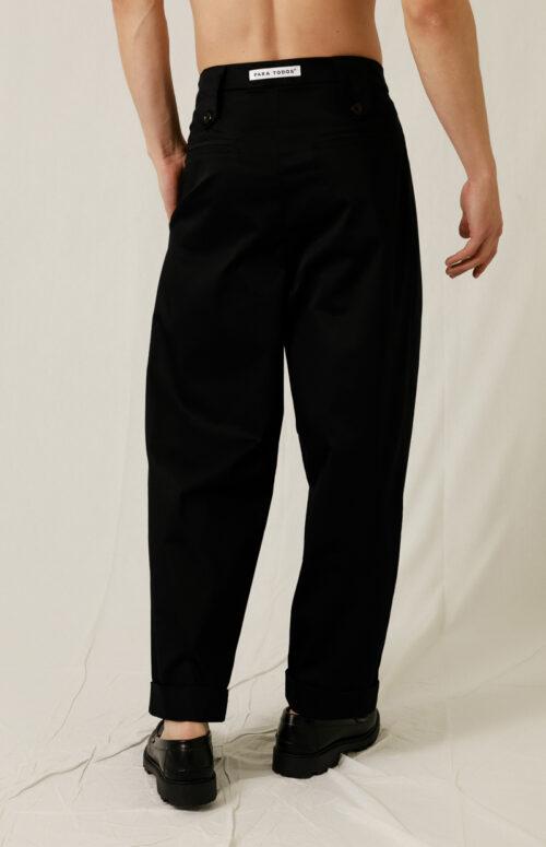 PINTUCK PANTS BLACK