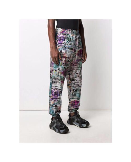. MOSCHINO GRAPHIC PRINT TRACK PANTS
