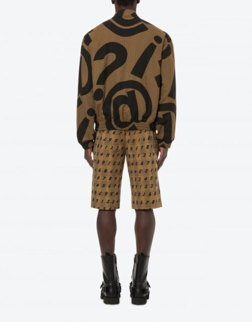 . MOSCINO SYMBOLS HOUNDS-TOOTH JACKET